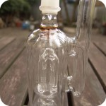 Tall clear borosilicate glass concentrate pipe with two tree percolators and diffusers