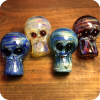 Davy Jones' Locker Glass Skull Pipe