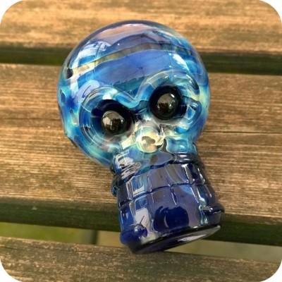 Locker Glass Skull Pipe