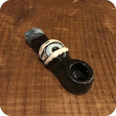 Black Ceramic Eyeball Pipe
