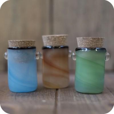 colorful swirled glass jar
