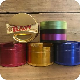 Four-piece Metal Grinder with Ashtray & Paper Holder