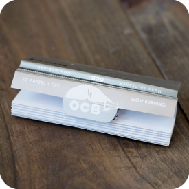OCB King Size X-pert Slim Fit Rolling Papers Tips Included