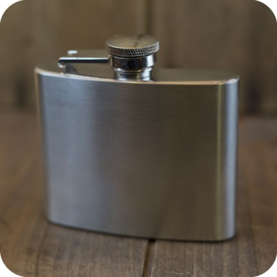 small stainless steel flasks