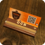 "OCB 1 1/4"" Unbleached Virgin Rolling Papers"