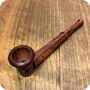 Small Simple Tan Wooden Pipe