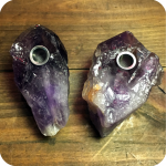 Large Amethyst Crystal Pipe
