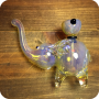 Large Fumed Elephant Pipe