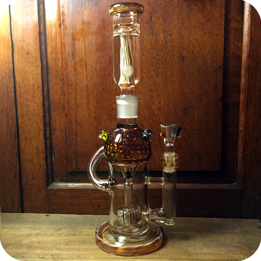 Two Piece Honey Bee Water Pipe & Sunflower Pipes Brooklynu0027s Best Smoke Shop