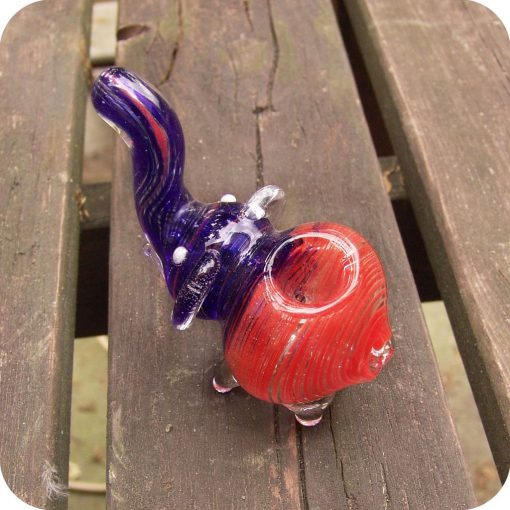 Small sculptural elephant shaped glass pipes