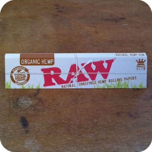RAW king sized Organic Hemp Rolling Papers