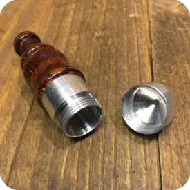 Metal Bullet with Wooden Mouthpiece