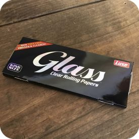 Glass King Size Slim Clear Rolling Papers