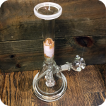 Marbeled Pink Stem Water Pipe