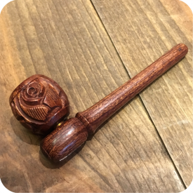 Rose Bud Wooden Pipe