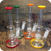Color Tipped Water Pipes with Dome Percolator